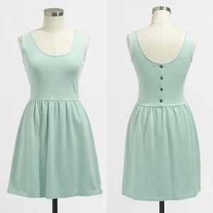 J.Crew Button Back Sundress Mint Green Fit & Flare